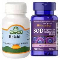 Pack REISHI SOTYA + SOD SuperOxido Dismutasa 250mg 50 TABLETAS