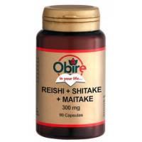 REISHI + SHITAKE + MAITAKE 90 CAPSULAS OBIRE
