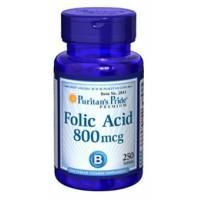 ACIDO FOLICO 800mcg 250 TABLETAS PURITAN PRIDE