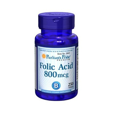 comprar PURITANS-PRIDE ACIDO FOLICO 800mcg 250 TABLETAS PURITAN