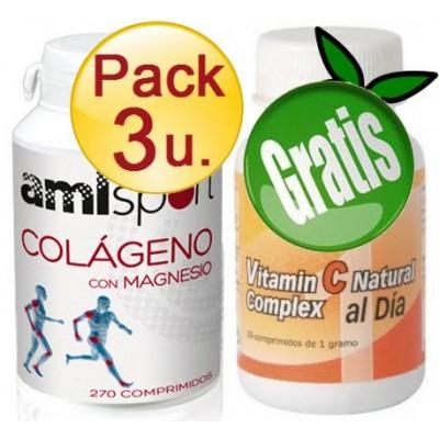 comprar AMLSPORT DESACTIVADO PACK 3 U. COLAGENO con MAGNESIO