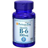 VITAMINA B-6 100 MG 100 Comprimidos PURITAN