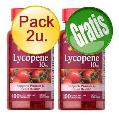 comprar PURITANS-PRIDE PACK 2U+1 LICOPENO 10 MG 100 CAPSULAS -