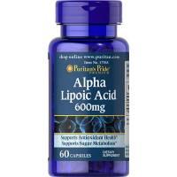 ACIDO ALFA LIPOICO 600MG 60 CAPSULAS (Alpha Lipoic Acid) PURITAN