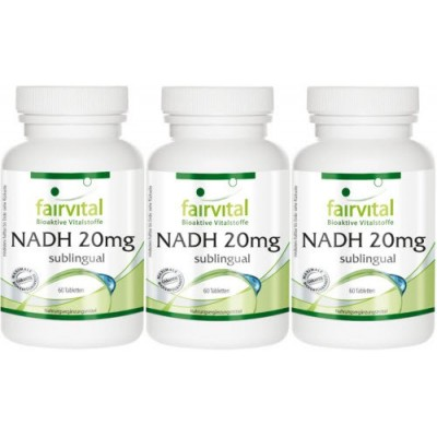 comprar FAIRVITAL PACK 3 U. NADH 20 MG 60 TABLETAS SUBLINGUAL