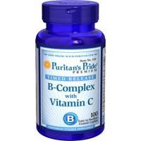 VITAMINA B COMPLEX + VITAMINA C 100 tabletas - LIBERACION SOSTENIDA PURITAN