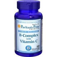 VITAMINA B COMPLEX + VITAMINA C 100 tabletas - LIBERACION SOSTENIDA