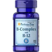 VITAMINA B COMPLEX + B12 180 TABLETAS PURITAN