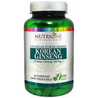 GINSENG ROJO PANAX KOREANO 500MG 60 CAPS NUTRIONE