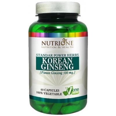 comprar NUTRIONE GINSENG ROJO PANAX KOREANO 500MG 60 CAPS