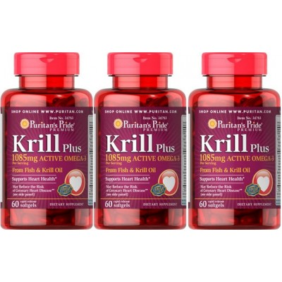 comprar PURITANS-PRIDE PACK 2+1 KRILL 1080MG OMEGA 3 - 60