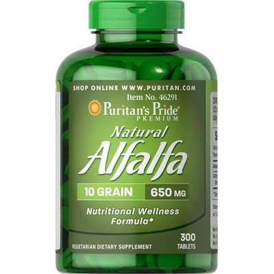 comprar PURITANS-PRIDE ALFALFA 300 TABLETAS. 650 MG PURITAN
