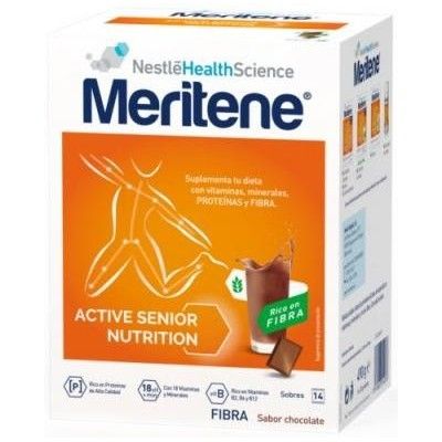 comprar MERITENE MERITENE CHOCOLATE FIBRA 14 SOBRES
