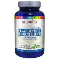 L-ARGININA L-ORNITINA 90 CAPSULAS NUTRIONE