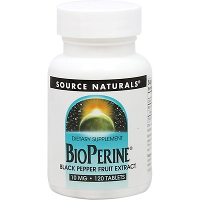 comprar SOURCE-NATURALS BIOPERINE 10 MG 120 TABLETAS. EXTRACTO