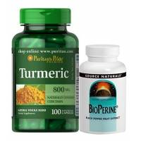 comprar SOURCE-NATURALS PACK CURCUMA 100 CAPS Y BIOPERINE 120