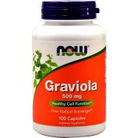 GRAVIOLA 500mg 100 Capsulas NOW FOODS
