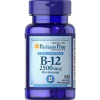 VITAMINA B12 SUBLINGUAL 2500 MCG 100 MICROPASTILLAS PURITAN S PRIDE