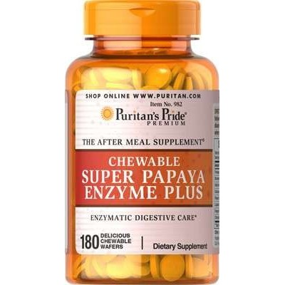 comprar PURITANS-PRIDE SUPER PAPAYA 180 C. MASTICABLES PURITAN'S