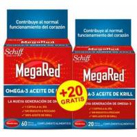 MEGARED 60 + 20 CAPSULAS. 500 MG KRILL OMEGA 3
