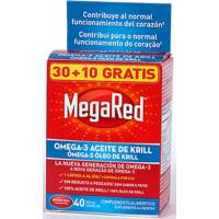MEGARED 30 CAPSULAS + 10 CAPS. 500 MG KRILL OMEGA 3