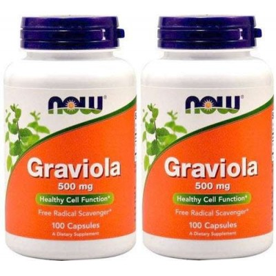 comprar NOW-FOODS PACK 2 u. GRAVIOLA NOW 100 CAPS. 500 MG