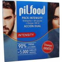 comprar PACK INTENSITY 18 AMPOLLAS + 60 CAPSULAS + CHAMPU 200ML PIL-FOOD