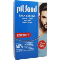 PACK ENERGY LOCION 125 ML + CHAMPU ANTICAIDA 200ML HOMBRE PILFOOD