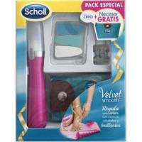 LIMA ELECTRONICA UÑAS ROSA VELVET SMOOTH + ACEITE DR SCHOLL + NECESER