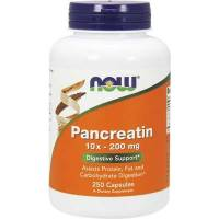 PANCREATIN 10X - 200MG 250 CAPSULAS NOW