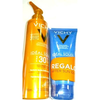 comprar VICHY IDEAL SOLEIL LECHE ANTIARENA SPF30 200ML + AFTER SUN IDEAL SOLEIL 100ML