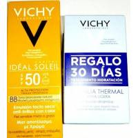 VICHY IDEAL SOLEIL BB CREAM EMULSION TACTO SECO SPF50 50ML + AQUALIA THERMAL 2X15ML
