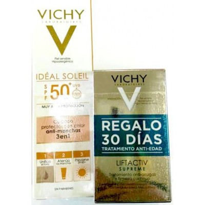 comprar VICHY IDEAL SOLEIL ANTIMANCHAS SPF50 50ML + LIFTACTIV SUPREME PIEL NORMAL MIXTA 2X15ML