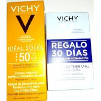 VICHY IDEAL SOLEIL CREMA UNTUOSA CON COLOR SPF50 50ML + AQUALIA THERMAL 2X15ML