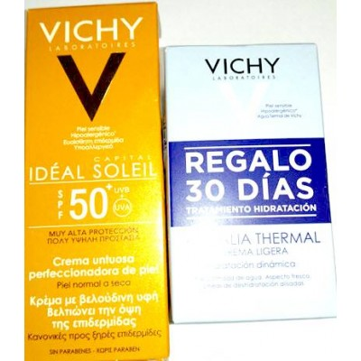 comprar VICHY IDEAL SOLEIL BB CREAM CREMA UNTUOSA COLOR SPF50 50ML + AQUALIA THERMAL 2X15ML