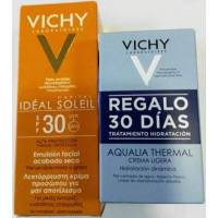 VICHY IDEAL SOLEIL EMULSION FACIAL SECO SPF30 50ML+AQUALIA THERMAL 2X15ML
