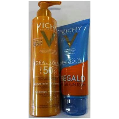 comprar VICHY IDEAL SOLEIL LECHE ANTIARENA SPF 50 200ML + AFTER SUN IDEAL SOLEIL 100ML