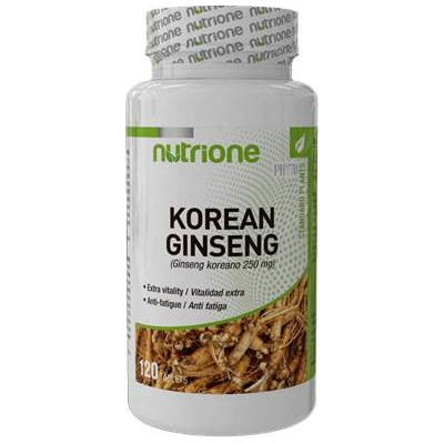 comprar GINSENG ROJO PANAX KOREANO 250MG 120 CAPS NUTRIONE