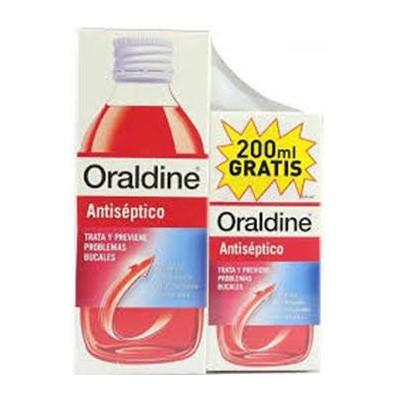 comprar ORALDINE ANTISEPTICO ENJUAGUE BUCAL 400ML MAS 200ML