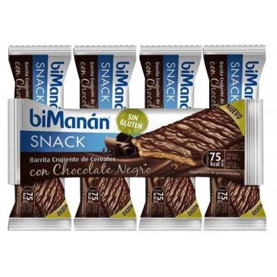 comprar Bimanan BARRITAS SIN GLUTEN CHOCOLATE NEGRO. 5 UNIDADES