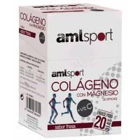 COLAGENO con MAGNESIO VIT C AMLSPORT SABOR FRESA 20 STICK