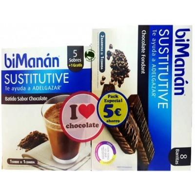 COMPRAR BIMANAN BATIDOS SABOR CHOCOLATE + BARRITAS CHOCOLATE FONDANT PARA TU FIGURA