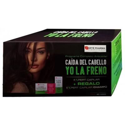 Comprar COFRE EXPERT CAPILAR 84 COMPRIMIDOS + CHAMPU ANTICAIDA 200ML FORTE PHARMA para evitar la caida de tu cabello