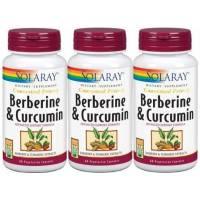 3 UNDS DE BERBERINE MAS CURCUMA 600MG 60 CAPS SOLARAY