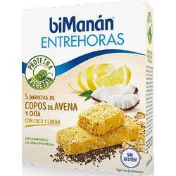 BIMANAN ENTREHORAS BARRITAS DE COPOS DE AVENA Y CHIA CON COCO Y LIMON