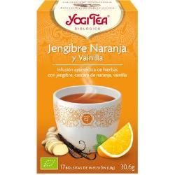 INFUSION JENGIBRE, NARANJA Y VAINILLA 17 BOLSITAS YOGI TEA
