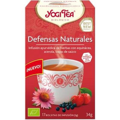 comprar INFUSION DEFENSAS NATURALES 17 BOLSITAS YOGI TEA