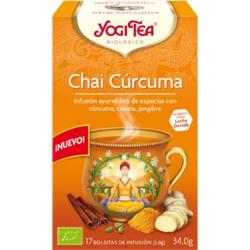 comprar INFUSION CHAI CURCUMA 17 BOLSITAS YOGI TEA