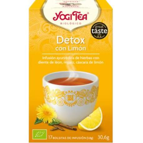 comprar INFUSION DETOX CON LIMON 17 BOLSITAS YOGI TEA