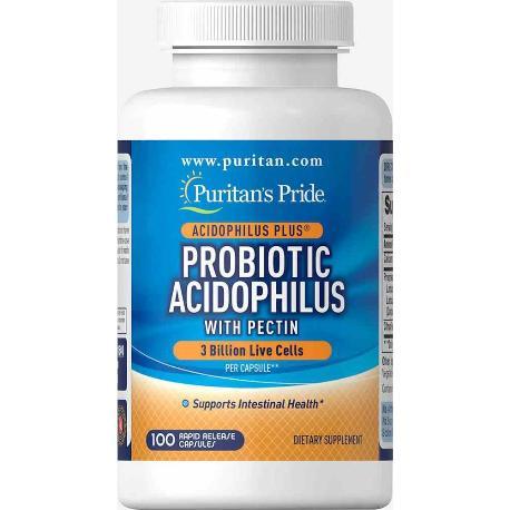 COMPRAR ACIDOPHILUS PROBIOTICO 100 CAPS. 3 BILLONES PURITAN PRIDE